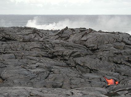 lava moves toward ocean